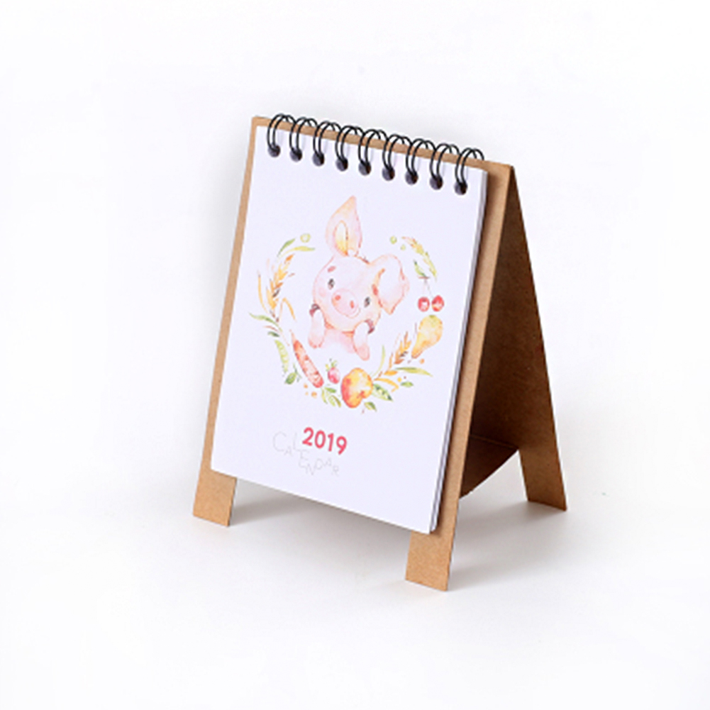 Calendars, Planners & Cards 2019 Plan Gifts Home Paper Decoration Vertical Multifunction Office Notebook Timetable Kawaii Cartoon Desk Calendar Non-Ironing