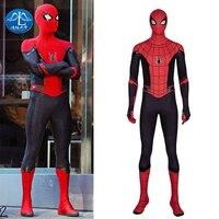 Manluyunxiao Человек паук далеко от дома костюм на Хэллоуин Человек паук косплей мужской костюм зентай можно настроить