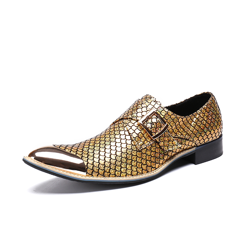 New Fashion Gold Top and Metal Toe Men Velvet Dress shoes Men Handmade Loafers Plus Size Men's Flats Size 4-17 Free shipping plus size dotted ruffled blouson top