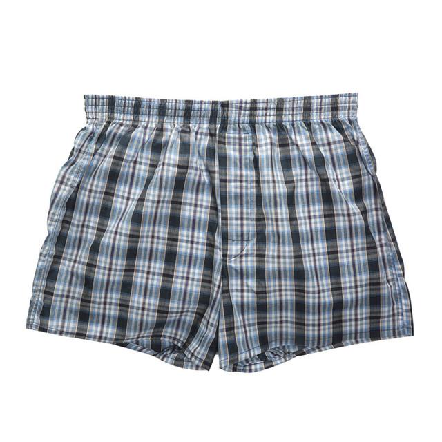 10Pcs/Lot Mens Underwear Boxers Shorts 100% Cotton Underwear Soft Plaid Boxer Male Panties Comfortable Breathable boxers mens