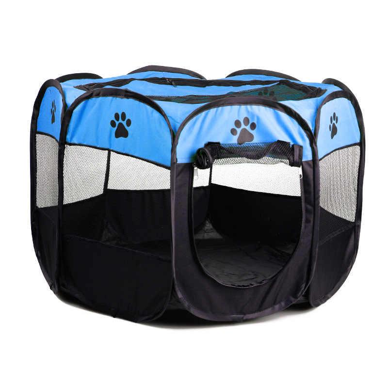 Mrosaa 防水折りたたみペットテント犬猫ハウスケージ犬小屋の巣ベビーサークルフェンスポータブル子犬ベッド屋外ペットケージ