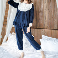 Women Models Cotton Pajamas Home Service Lace Soft Comfortable Ladies Suits Spot Pigiami Donna Invernali Sleepwear Piyamas Sets