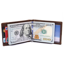 LOVMAXI NEW Genine Leather Short wallets Card wallet Dollar short clips RFID Money Clips Mini Purses