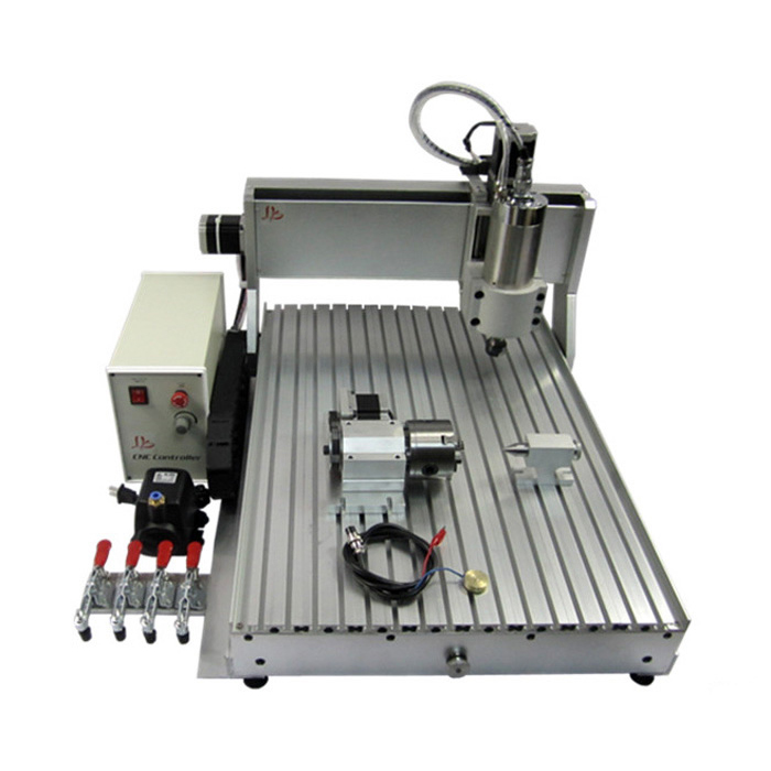 4axis cnc milling machine 6040 800w cutting router USB port Ball screw  with rotary axis 500w mini cnc router usb port 4 axis cnc engraving machine with ball screw for wood metal