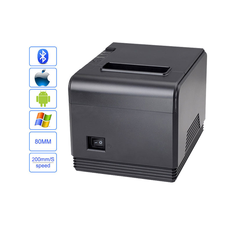 High quality 80mm auto cutter USB+bluetooth Thermal receipt printer Pos Printer for Hotel/Kitchen/Restaurant/Retail 5pcs 80mm pos printer high speed thermal receipt printer automatic cutting usb ethernet ports 300 mm s dhl