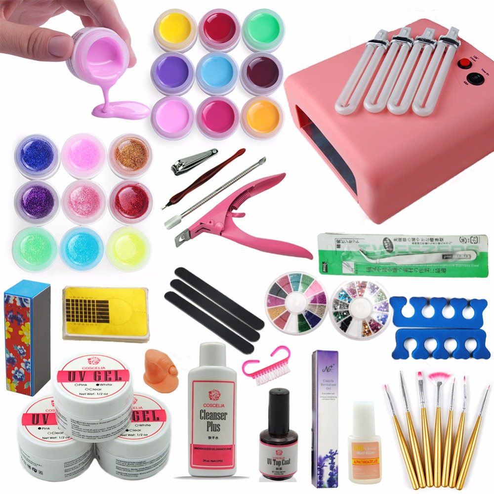 Ship From Russia Nail Art Manicure Set 36 Colors UV Gel