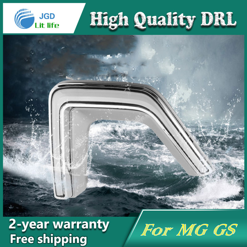 high quality ! 12V 6000k LED DRL Daytime running light for MG GS Fog lamp frame Fog light Car styling