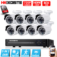 1080n 8ch 1080 P HDMI AHD 8CH видеонаблюдения DVR 8 шт. 1,0 Мп ИК Открытый водонепроницаемый безопасности Камера 720 P камера наблюдения Системы hd 1 ТБ
