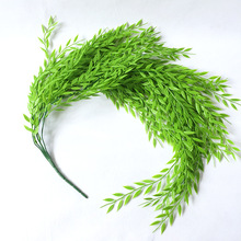 1PC 5 Bifurcation Artificial Fake Hanging Branch Wicker Decora Home Garden Wedding Corridor Green Wall