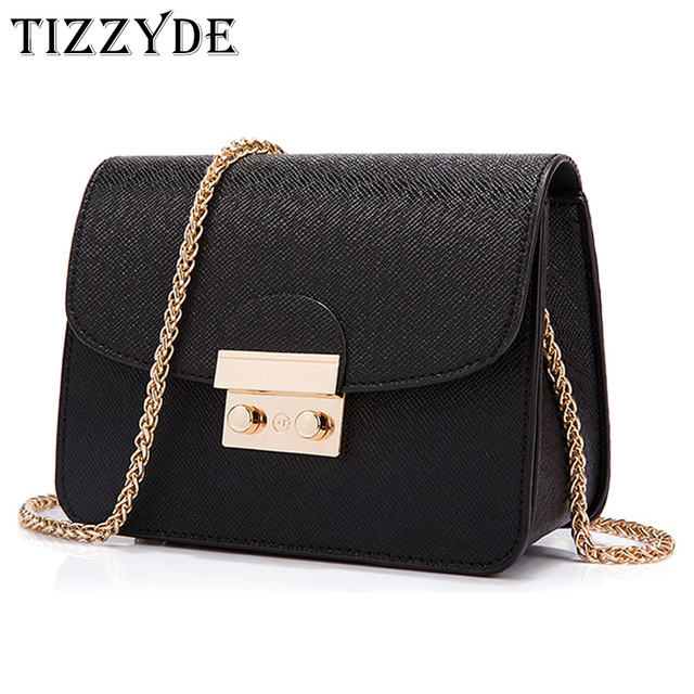 Drop Shipping Solid Chain Bag Women Classic Messenger Bag Geometric Fashion  Popular Shoulder Bag Female Brand Designer TLJ88C b209167a483d1