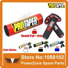 Envío Libre MX CRF Dirt bike Pro Taper IRBIS Bar Protector cruz Almohadilla Redonda y Pro Conica Manillar Mango Colorido Grips