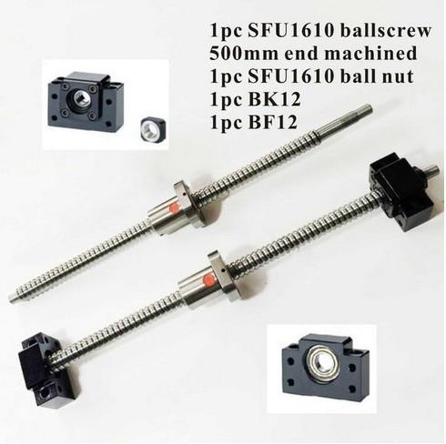 CNC SFU1610 Set: SFU1610 swivel L500mm End Machining + SFU1610 Ball Point Nut + BK12 BF12 END OF SUPPORT for SHVP diversity of east african physic nut jatropha curcas l germplasm