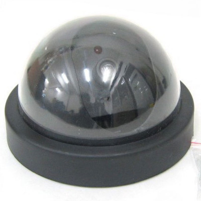 Dropshipping For 2019 Simulated Security Camera Fake Dome Dummy Camera with Flash LED Light HJ55 Surveillance Cameras     - title=