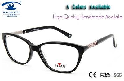 Eyewear Accessories High Quality oculos de grau Women Hand Made Acetate Fashion Glasses women