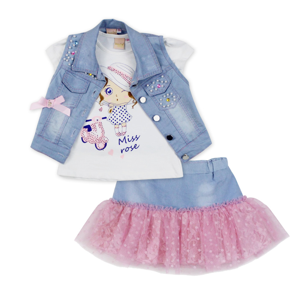 2016 fashion summer children clothing sets girl bo...