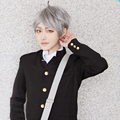 Haikyuu Koushi Sugawara Cheap Synthetic Straight Grey Short Cosplay Wigs Free Shipping