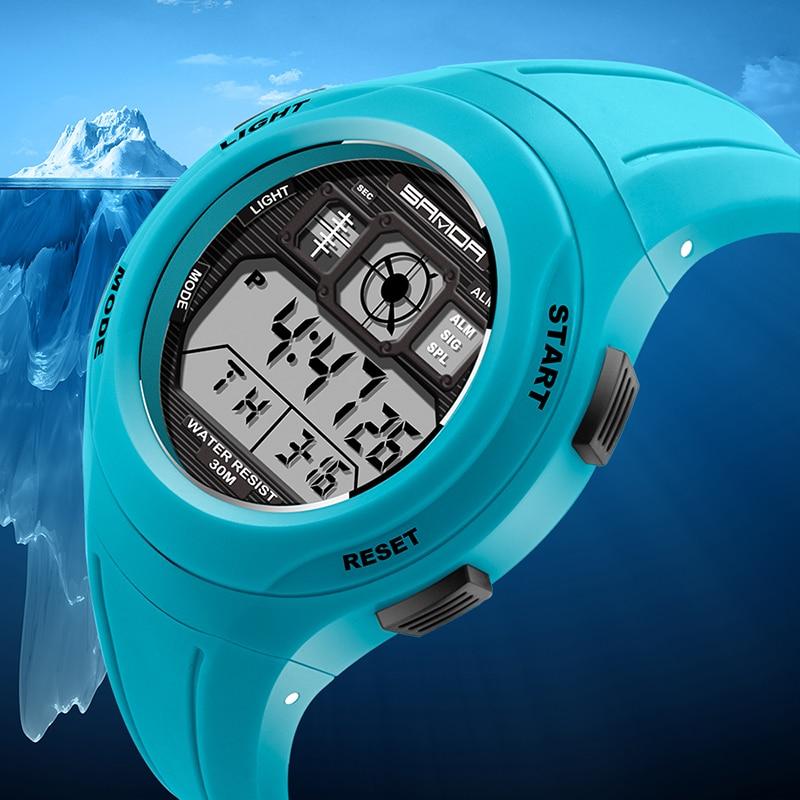 Fashion SANDA Brand Sports Watches Women LED Digital Swim Watch Women Multifunctional Wristwatches Alarm Stopwatch Ladies Clock