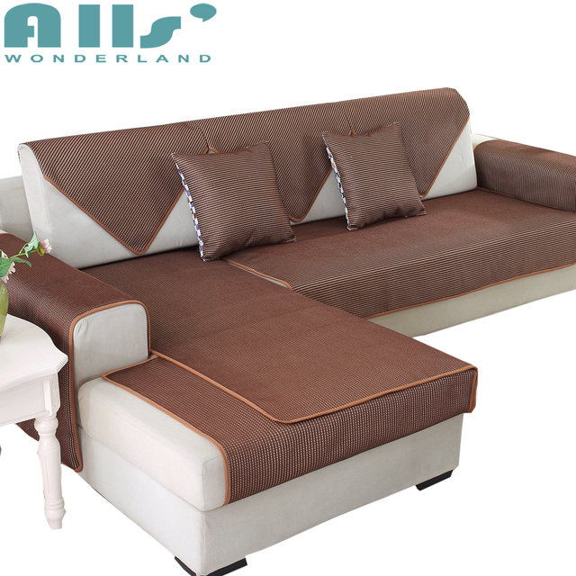 Exceptionnel Solid Color Sectional Sofa Cover 3d Slipcovers For Couch Polyester Modern  Design 1pc Furniture Protector L