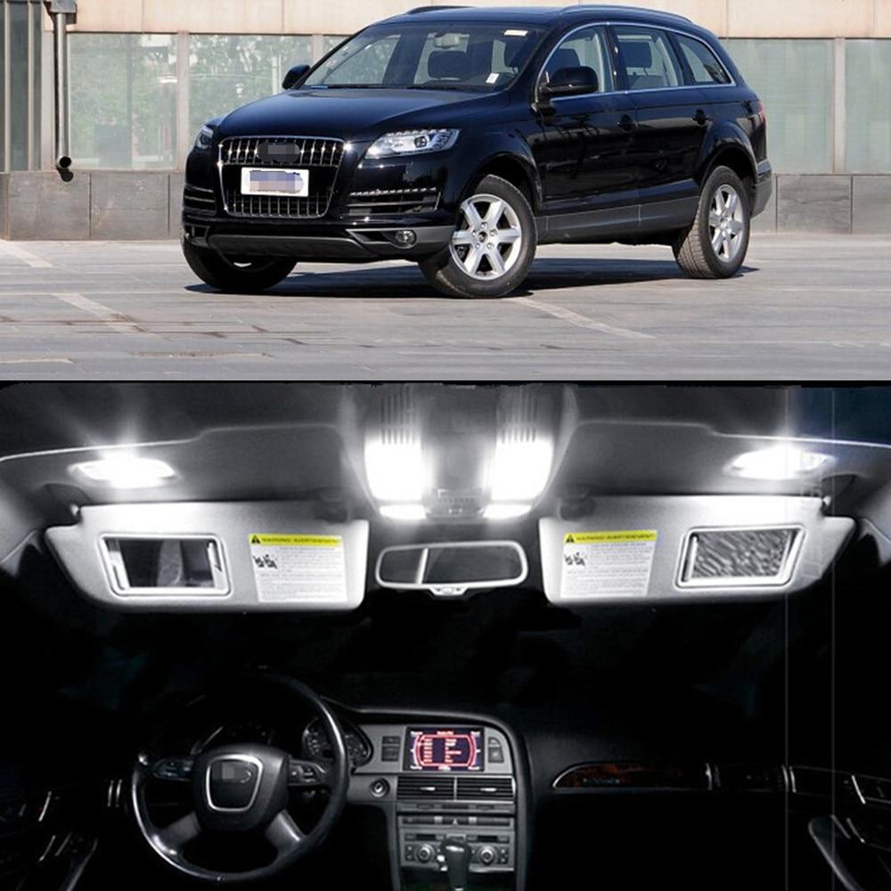10pcs LED Bulb For Audi Q7 2015 Interior Dome Map Trunk