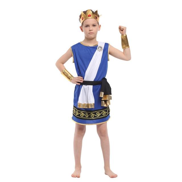 Bambini Ragazzi Antica mitologia Greca Zeus cosplay Fantasia Di Halloween  Olympus Dio Costume Per Bambini Re cc880a1fcd4