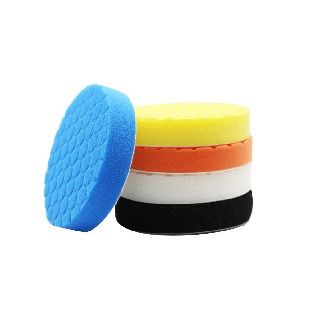 Image 3 - 5PCS/Set3/4/5/9/7inch Buffing Pad Car Polishing Pad Foam For Car Polisher Buffer Car Cleaner Tools-in Sponges, Cloths & Brushes from Automobiles & Motorcycles