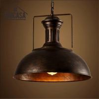 Vintage pingente lâmpada do teto ferro forjado industrial luzes de metal enferrujado hotel cozinha ilha luminárias antigo|Luzes de pendentes|Luzes e Iluminação -