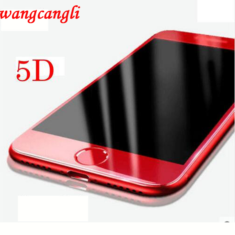 Wangcamgli5D tempered glass screen protectionfor iPhone7plus new update 5D arc edge protectionfor iPhone7 5D tempered glass