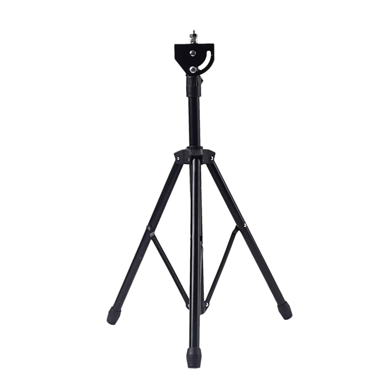 8 Inches Adjustable Metal Tripod Dumb Drum Stand Practice Pad Rack Bracket Support Percussion Accessory Black