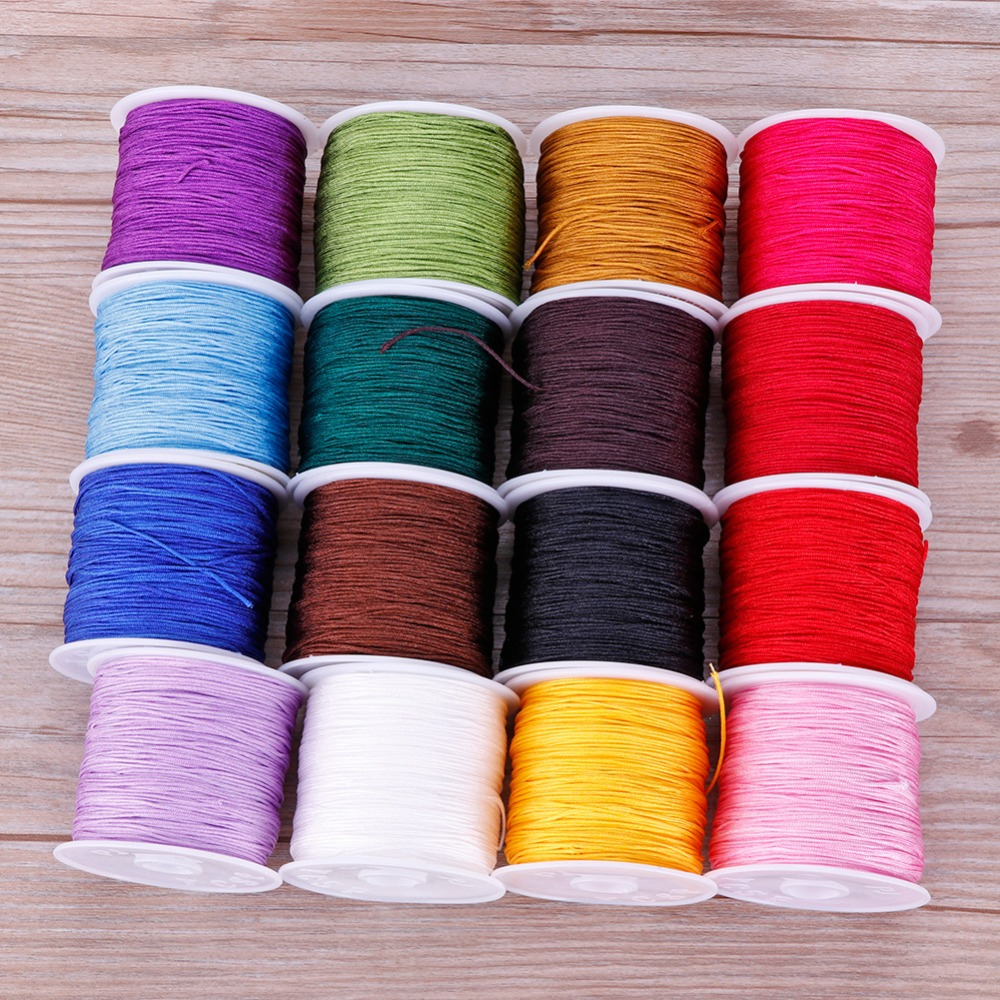 Black Nylon Braided Cord Thread 1.5mm x 160m 175 Yards Extra Strong for...
