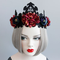 De noël Couronne de la Reine Tête Cerceau Mariée De Mariage Garland Bande De Cheveux Art Bijoux FD-40