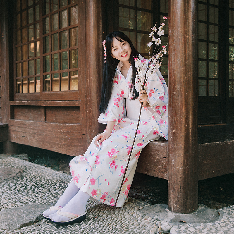 Japanese Traditional Kimono Classic National Style Dress Cosplay Yukata Women Haori Japan Geisha Costumes With Obi Kimonos Woman