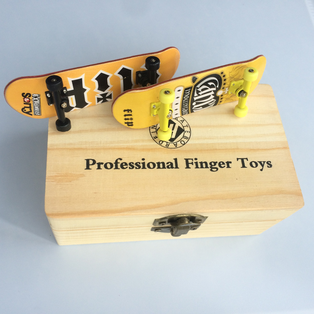 Online buy wholesale wood tech from china wood tech wholesalers professional finger skateboards with box maple wooden deck alloy trucks finger board bearing wheels tech fbs baanklon Image collections