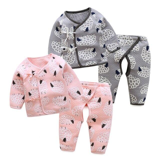 796282c0c64 children Autumn And Winter Wear Underwear Clothes Baby Boys Girls Suit  Newborn Baby Warm Pure Cotton Thickened Clothes