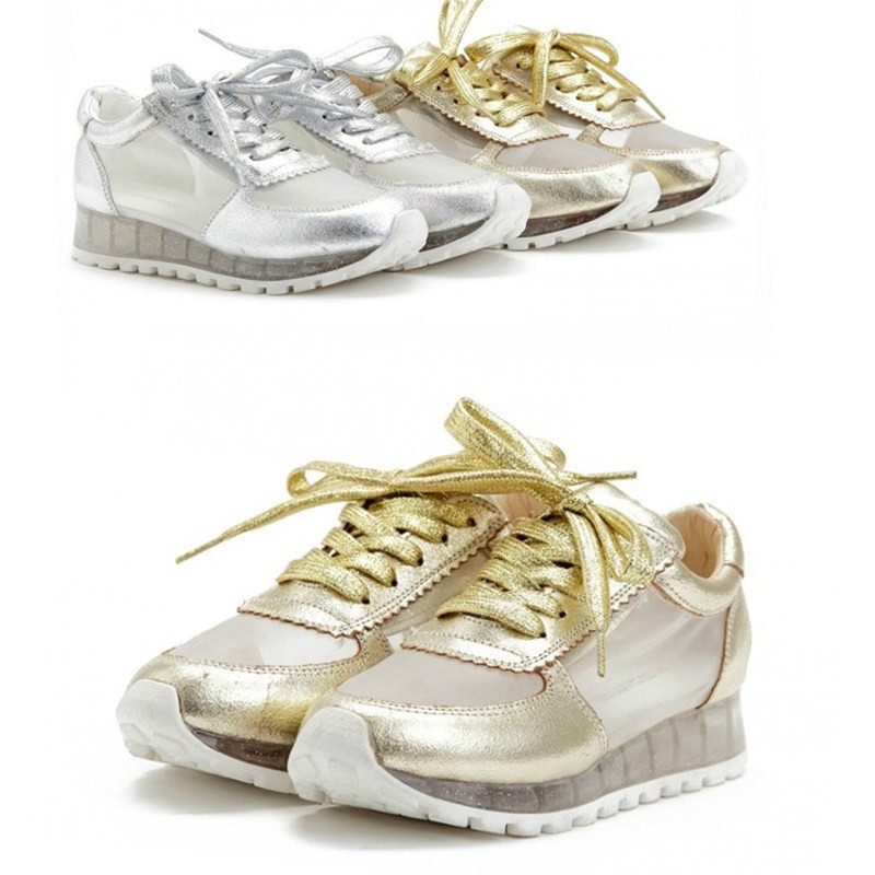Sneakers Genuine Leather Lace
