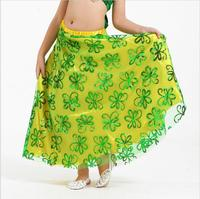 Hot Sale Professional Belly Dance Skirt 8 Colors Children Dance Wear Indian High Class Kids Bellydance