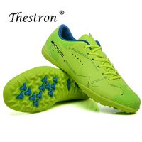 Men Shoes Soccer Football Turf Sneakers Breathable Football Shoes Boys Sport Soccer Shoes Blue Green Artificial Synthetic Turf
