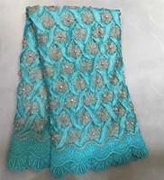 Skybule African French Lace Fabric 2018 High Quality Nigerian French Net Lace Handmade With Nice Big