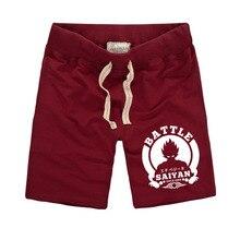 Dragon Ball Shorts Men Summer Pure Cotton Sweat Casual Male Straight Shorts Men Buttman Shorts Bermuda Masculina Brand Clothing