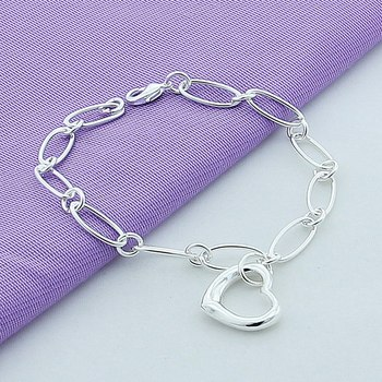 Wholesale 925 Sterling Silver Charm Bracelets for Women Fashionable jewelry   Wedding Anniversary  Gift YH128