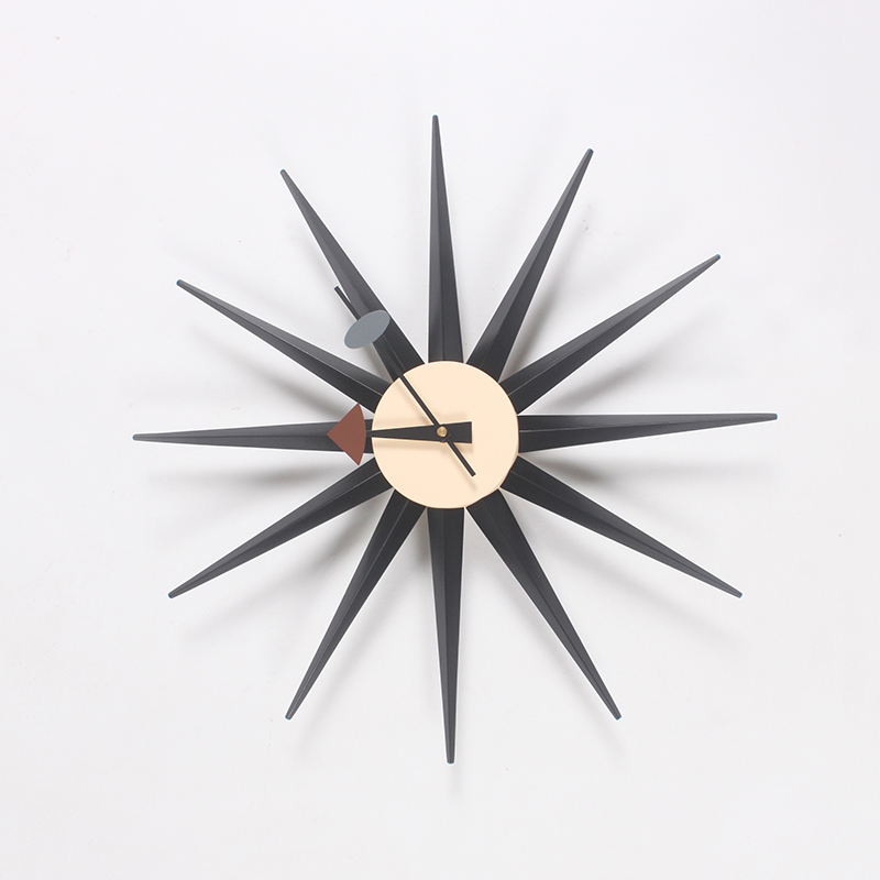 CW08 Factory Direct Wooden Multi Color Sunburst Wall Clock Manufacturers Of  Professional Designers Clock Wholesale Wall Clocks In Wall Clocks From Home  ...
