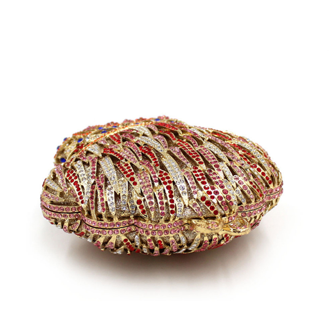 XIYUAN BRAND Ladies Luxury Glass Diamond Evening Bags Bling Classic Women Crystal Rhinestone Clutch Bags Handbag Wedding Bag