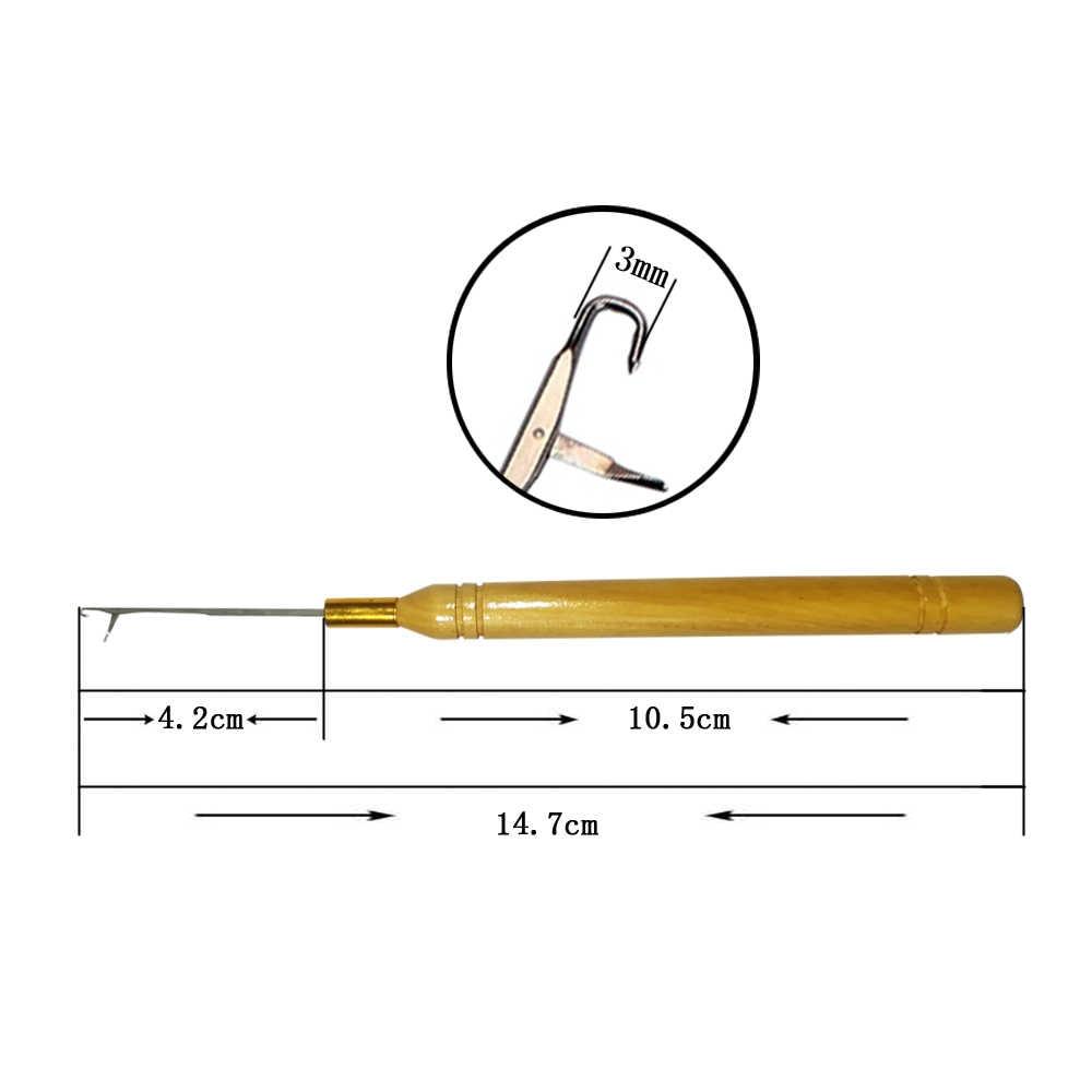 1 шт./партия, деревянная ручка крючком, спицами для соединения микро-колец/петли иглы для наращивания волос Инструменты купить 2 получить 1 бесплатно