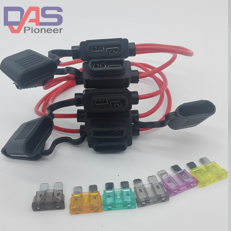 Wholesale 10pcs medium In-line inline Car blade Fuse Holder ATC/ ATO Automotive Waterpoof car fuse socket free shipping auto automotive blade fuse holder with a line of high quality waterproof fuse auto automotive car blade fuse free shipping au12