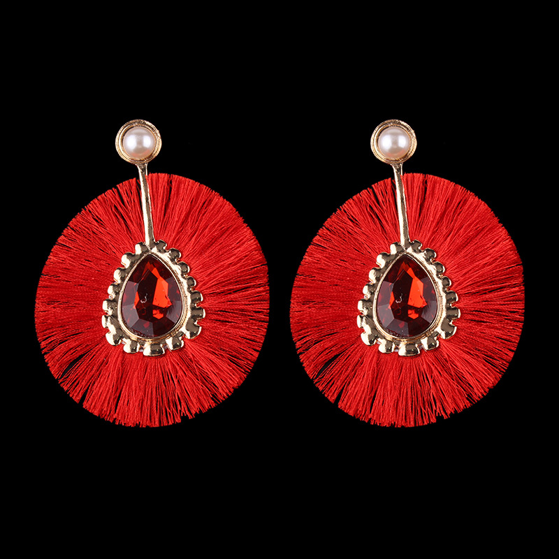 New Fashion Tassel Drop Shape Shining Alloy Earrings Bohemia Folk Custom Exaggeration Atmosphere Earrings Accessories Wholesale in Drop Earrings from Jewelry Accessories