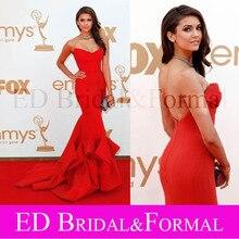 Nina Dobrev Roten Kleid 2011 Emmy Awards Roter Teppich Promi Mermaid Abendkleid