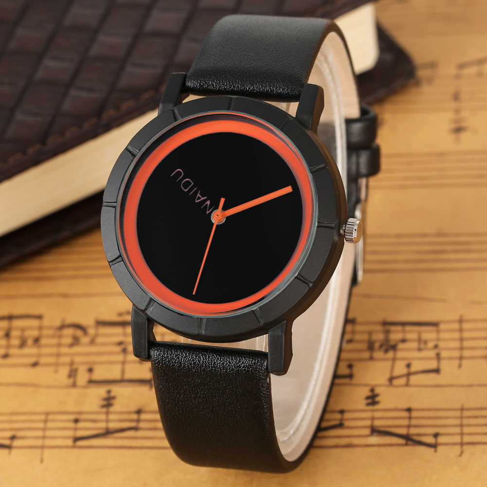 Chic Quartz Analog Watches Elegant Watch Premium PU Leather Band Wristwatch Simple Style Men Clock Gifts Rejolj