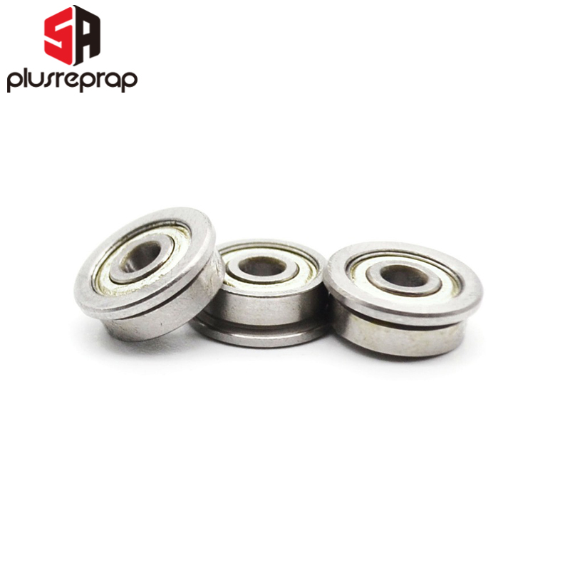 12 PCS/lot F623 ZZ Flange Bushing Ball Bearings F623ZZ 3 * 10 * 4 Mm For 3D Printer Parts