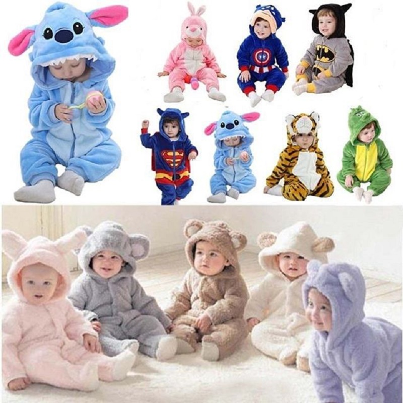 Winter Baby Clothes Stitch   Romper   Baby Costumes Newborn   Romper   2019 Bebe Clothing Boys Girls Jumpsuit Toddler Infant Pajamas