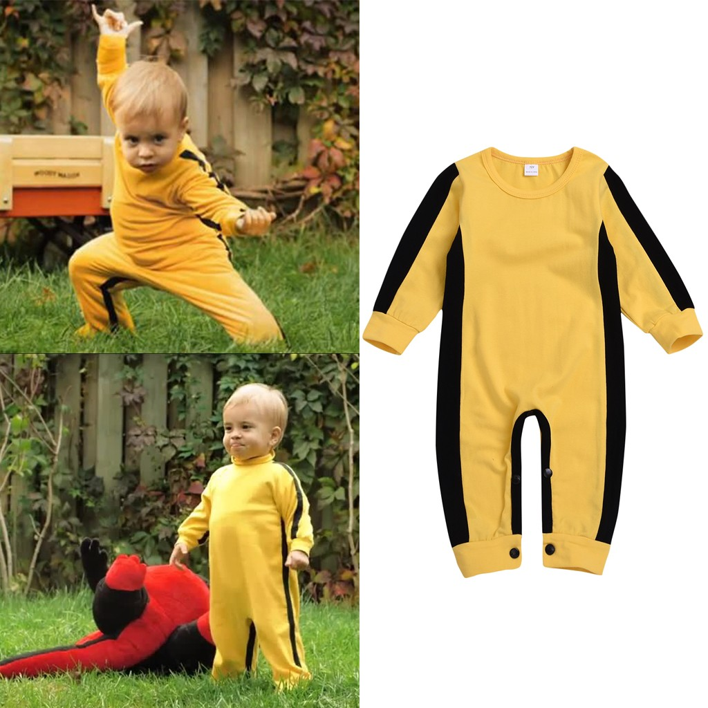 Newborn Kids Baby Boys Girls Clothes Cotton Classic bruce lee One Piece Jumpsuit Summer   Rompers   Clothes Outfits k326