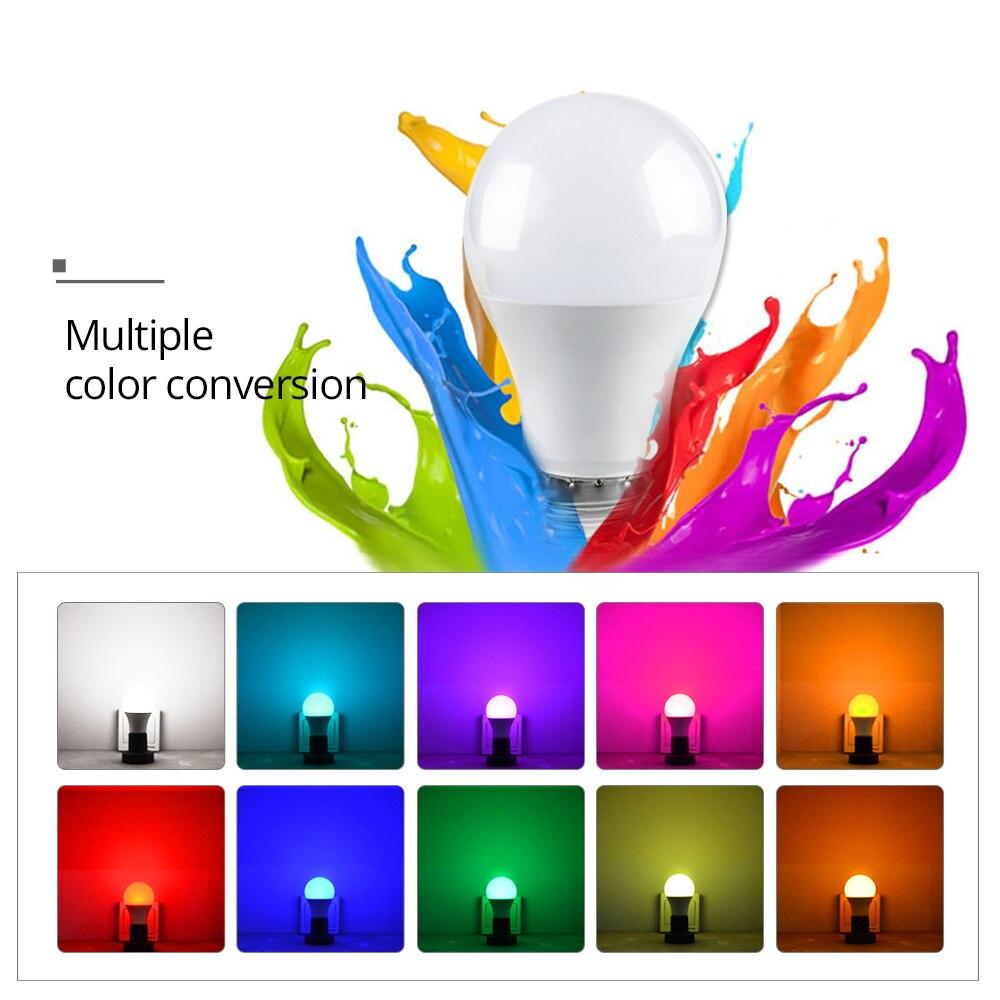 Image 3 - RGB LED הנורה אור E27 GU10 5 w 10 w 15 w Dimmable מנורת ססגוניות משתנה + IR שלט רחוק RGB Lampada מקורה תאורת מנורהנורות וצינורות LED   -